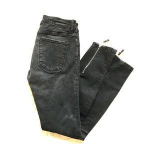 Zara skinny jeans- ankle zipper detail